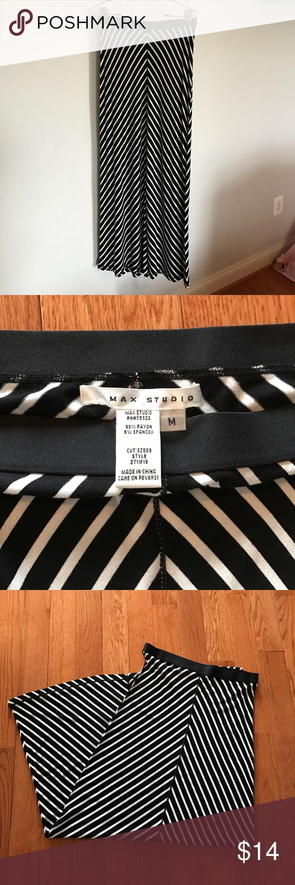 Max Studio Maxi Skirt Black and White Maxi Skirt.  Worn once in perfect condition. Max Studio Skirts Maxi