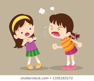 Bullying Children Angry Children Quarreling Kids Angry Girl Shouting At Friend Ra Projetos De Arte Da Crianca Quadro De Rotina Para Crianca Arte Para Criancas