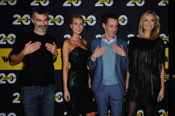 François Vincentelli, Adriana Cernanova, Julien Boisselier et Adriana Karembeu