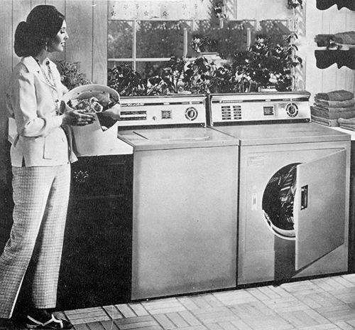 Ge Automatic Washer And Dryer From 1970 In 2019 Vintage