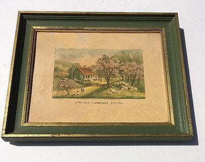 VTG Currier and Ives American Homestead Four Seasons SPRING RARE Green Trees | eBay