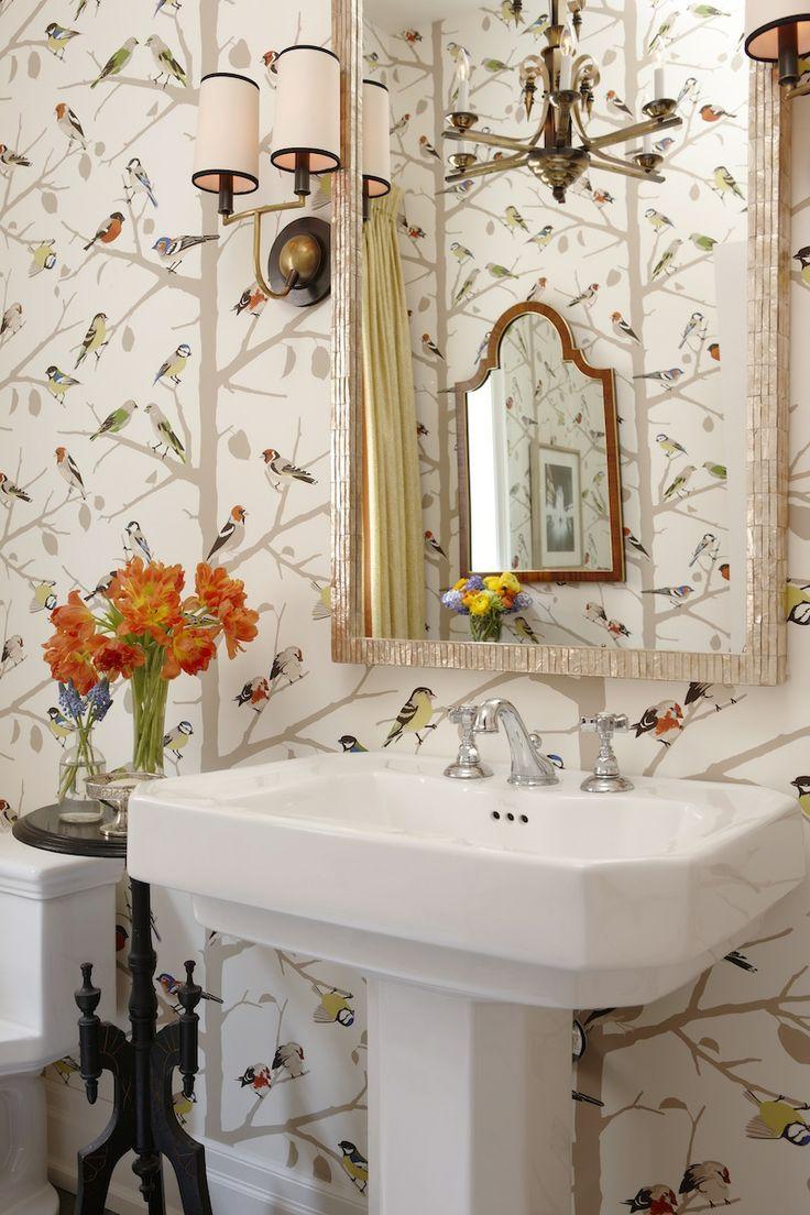66 best wallpapers fabrics images on pinterest fabric wallpaper sarah s house season 4 bird wallpaperbathroom