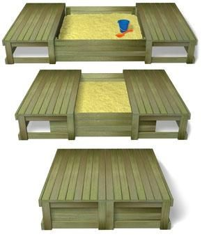 Sliding sand pit, good idea to keep cats from using as a