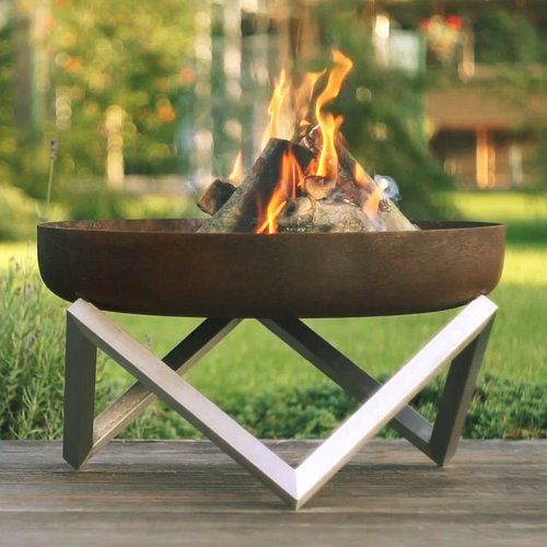Found it at AllModern - Memel Stainless and Rusting Steel Wood Burning Fire Pit