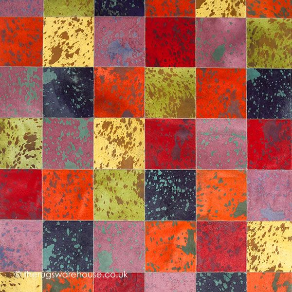 Allspice Rug (texture close up), a vibrant multi-coloured handmade cowhide leather rug http://www.therugswarehouse.co.uk/modern-rugs3/girona-rugs/allspice-rug.html #rugs #interiors