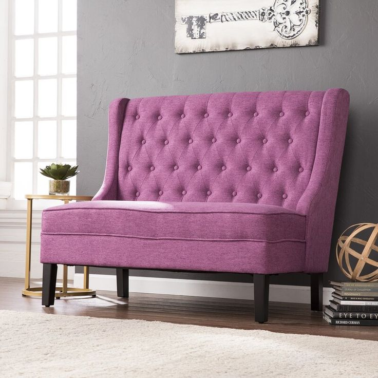 Halpin highback settee upholstered bench in 2020 with