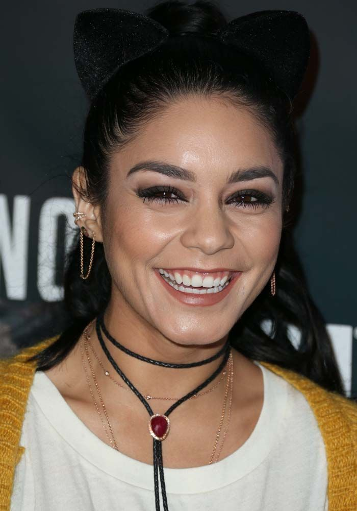 """Vanessa Hudgens Is """"Just Here for the Boos"""" in AllSaints Boots at the Knotts Scary Farm"""