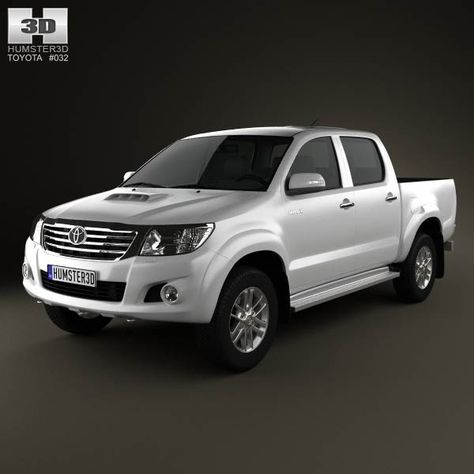 Toyota Hilux DoubleCab 2012 3d model from humster3d.com. Price: $75