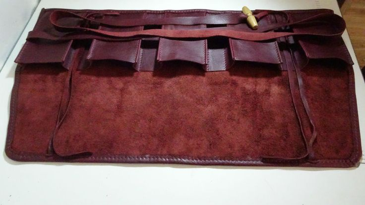Burgundy Leather Watch Roll 5 pouch watch travel case Collector Unique LOTHS UK