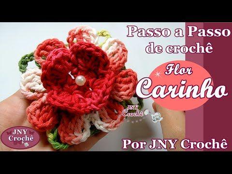 NOVO! Passo a Passo Flor Sininho por JNY Crochê - YouTube