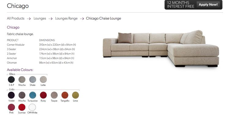 Chicago Modular Nick Scali Lounge Suites Couch Lounge