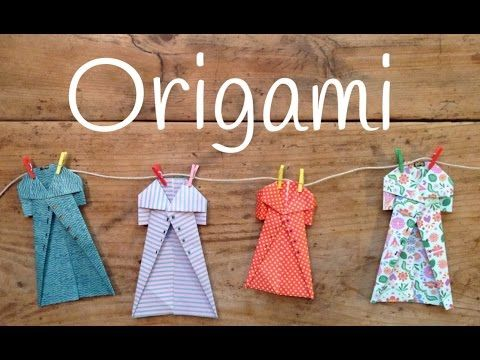 Origami fácil para niños paso a paso, un abrigo genial para decorar - Juntines.com