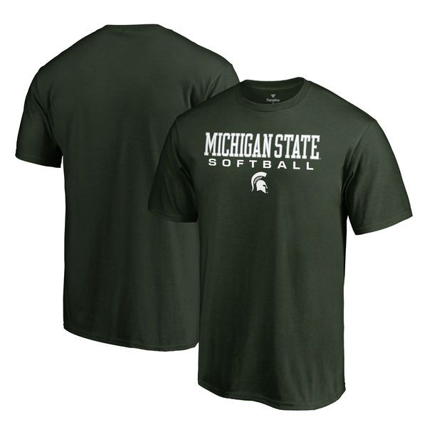 Michigan State Spartans Fanatics Branded True Sport Softball T-Shirt - Green - $21.99