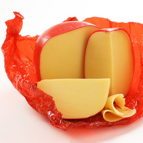 Edam - Semi-hard cheese, rich in calcium. Best with Burgundy and Chardonnay, or full-bodied red wines like Rioja