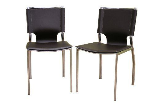 Baxton Furniture Studios Rossi Bonded Leather Dining Chair, Brown, Set of 2 by Baxton Studio, http://www.amazon.com/dp/B002HWRGJ2/ref=cm_sw_r_pi_dp_z9ufrb05K3W7P