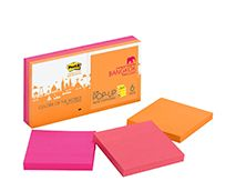 Post-it® Super Sticky Pop-up Notes 3 in x 3 in increase your productivity when notes are where you need them, when you want them. With Super Sticky adhesive, you can leave your note on almost any vertical surface. Life gets easier with these handy notes. The Bangkok Color Collection mixes up a number of Asian influences to create a spicy assortment of colors. 3 in x 3 in, 6 Pads/Pk, 90 Sheets/Pad.