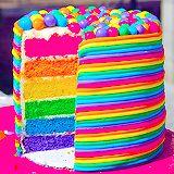 Bolo arco-íris. zo kleurig daar houd ik van en ook lekker?!