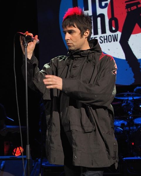 On November 11, 2014 #LiamGallagher appeared at London's Shepherd's Bush Empire as part of the The Who's night in aid of the Teenage Cancer Trust, singing The Who's 'My Generation'. : © Mick Hutson.