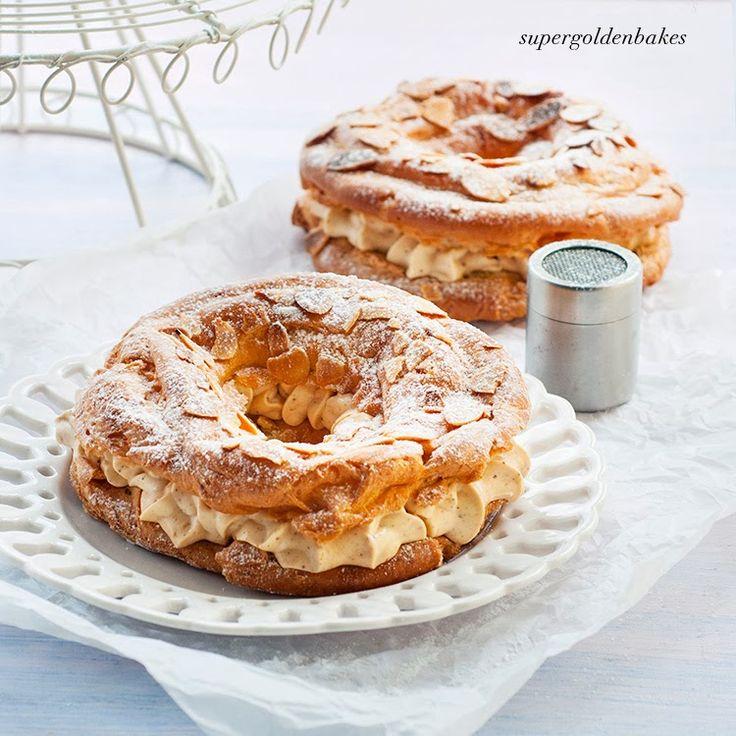 Mini Paris-Brest filled with praline pastry cream