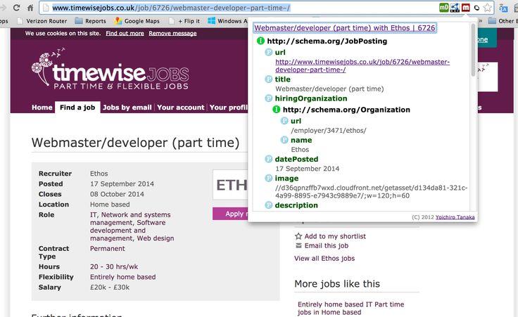 Microdata based Linked Data using Schemaorg terms, re, Job - webmaster job description