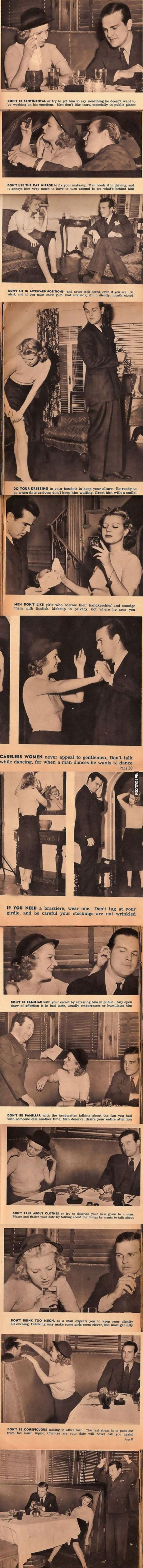 13 Hilarious and Sexist Dating Tips From 1938.