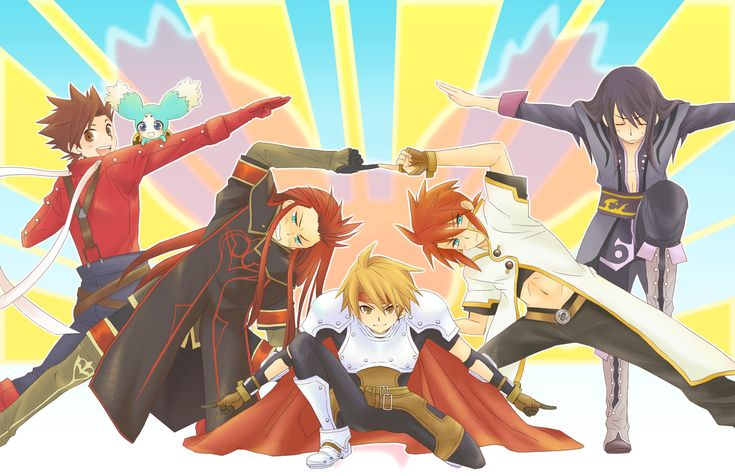 Tales of the Abyss, Tales of Symphonia, Tales of Phantasia, Tales of Vesperia - Lloyd Irving, Mieu, Asch the Bloody, Cless Alvein, Luke fon Fabre, Yuri Lowell