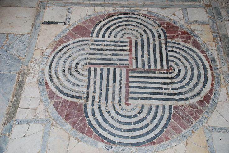 Roman floor mosaic, Ostia antica