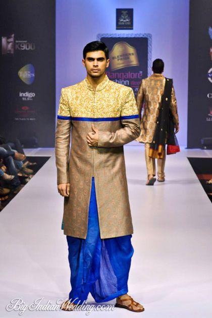 Sagar Tenali Sherwani With Dhoti Men S Fashion Pinterest