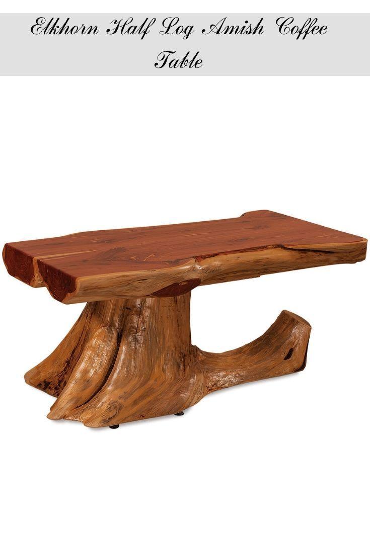 Elkhorn Half Log Amish Coffee Table Rustic Furniture Diy Rustic Log Furniture Rustic Furniture [ 1102 x 735 Pixel ]