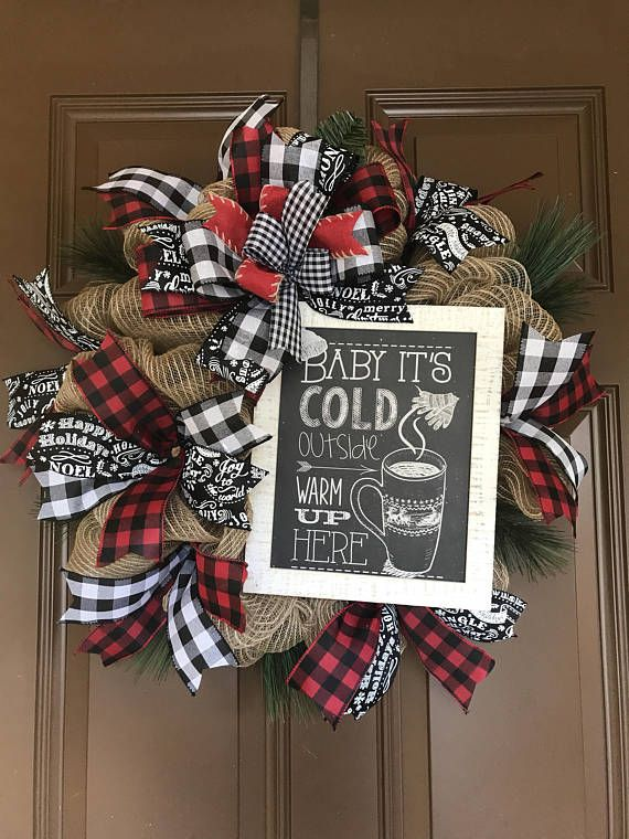 Buffalo Check Christmas Wreath.Pin On Seasonal Stuff