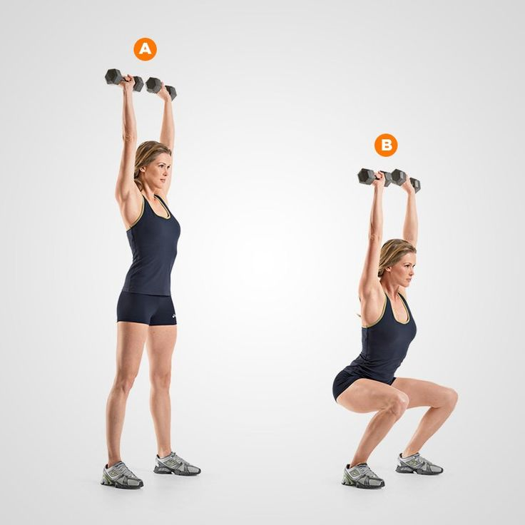 Best 25+ Dumbbell squat ideas on Pinterest | Tricep workout with ...