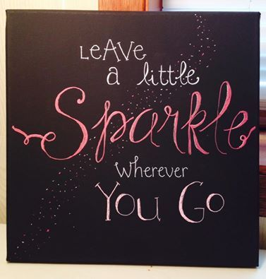 """""""Sparkle"""" by Beki Leak.  12x12"""" canvas art found at www.beyondethereal.com  #pink #sparkle #girly"""