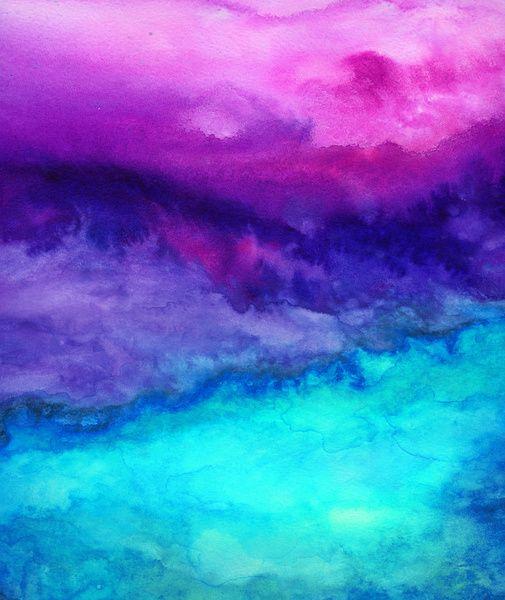 The Sound Art Print by Jacqueline Madonado #magenta #purple #turquoise