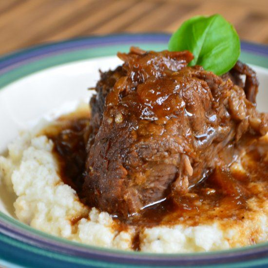 Juicy pressure cooker short ribs smothered in a sweet and smoky stout ...