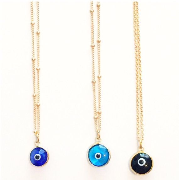 Evil Eye Necklace by JessandLuJewelry on Etsy