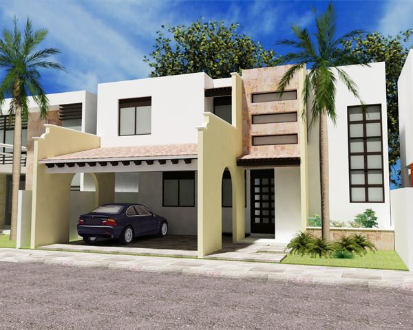 Decoraci n minimalista y contempor nea fachadas modernas for Decoracion de frentes de casas
