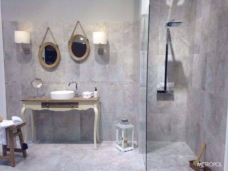 La colección Chambord, de Metropol, en un #baño de #diseño #shabby #chic http://www.metropol-ceramica.com/productos/series/chambord