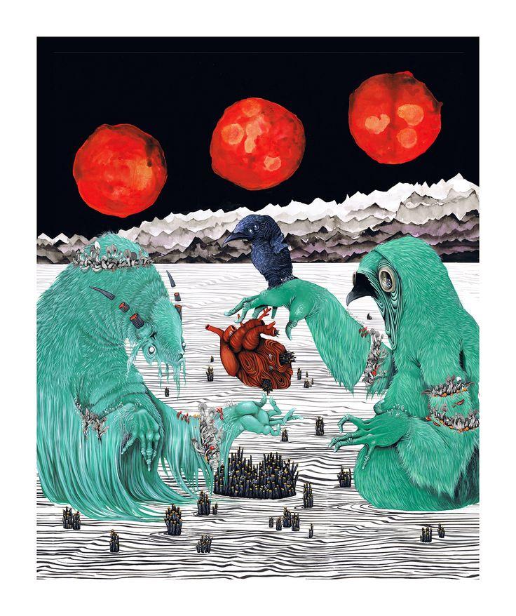 Blood Moon - Rayne Longboard Darkside Series 2016 on Behance