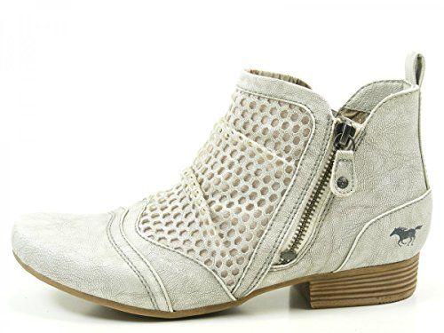 Mustang 1176-504 Schuhe Damen Stiefeletten Chelsea Boots, Schuhgröße:37;Farbe:Grau - http://on-line-kaufen.de/mustang/37-eu-mustang-damen-stiefeletten-blau-blau-kombi-2