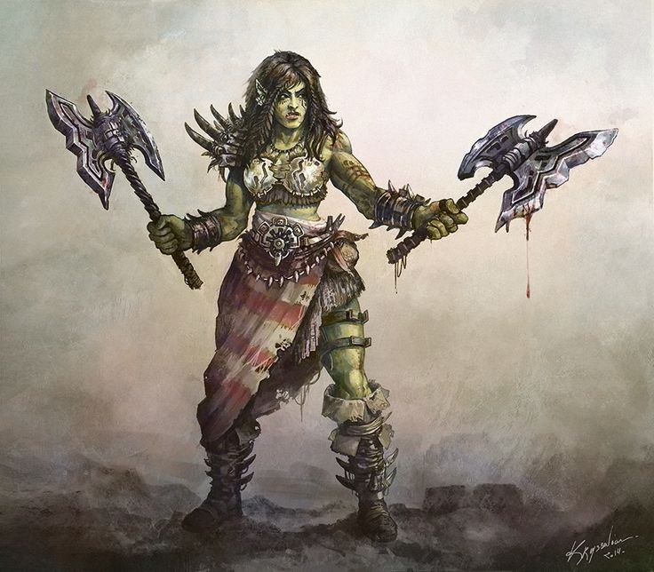 Female orc warrior interesting