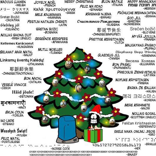 Auguri di Natale nelle lingue del mondo