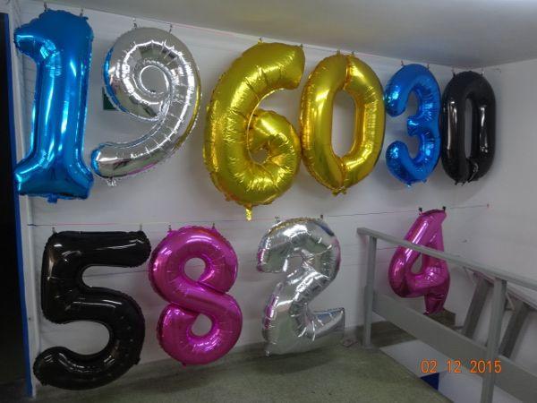 """Globos metalizados en números de 34"""" #FiestasTematicasBogota #FiestasTematicasCali"""