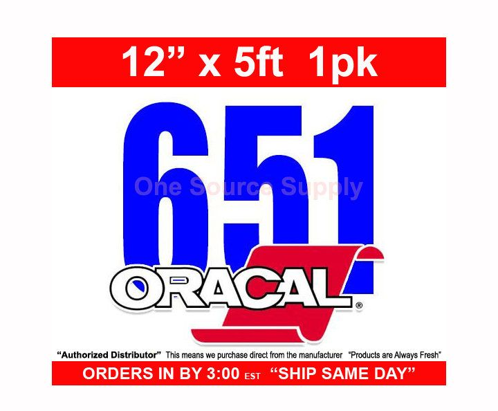 12 X 5 Foot Roll 1 Sheet Oracal 651 Orafol Psv Craft Vinyl Decal Vinyl Oracal Vinyl Crafts Vinyl