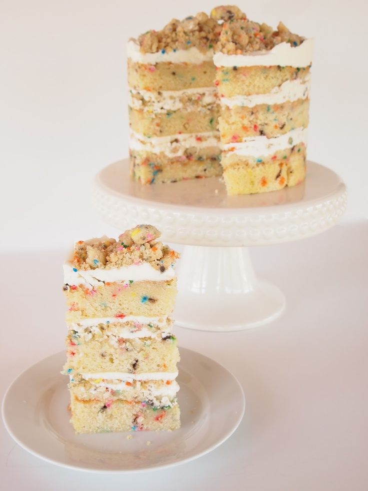 Milk Bar Birthday Layer Cake: Layered Cakes, Fun Recipes, Birthday Layered, Rainbows Birthday, Layer Cakes, Milk Bar, Momofuku, Bar Birthday, Birthday Cakes