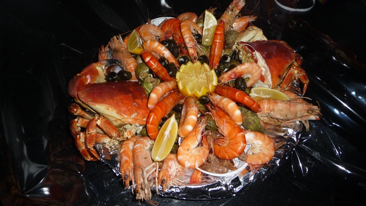 Les Repas plateau de Fruits de Mer directement dans votre gîte www.martinaa.fr