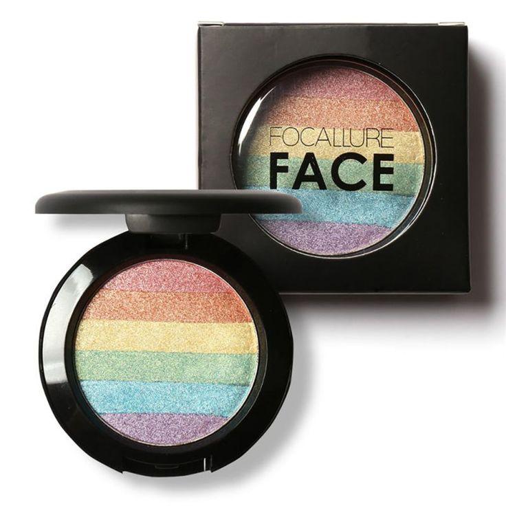 Rainbow Highlighter Makeup Bronzer For Face Highlighter Cosmetic Palette Shimmer Maquiagem Blusher Eyeshadow