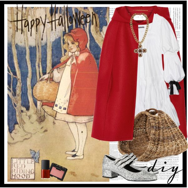 """Little Red Riding Hood DIY Halloween Costume"" by dominikaf on Polyvore - outfit, clothes, stylist, high end, fall 2014, diy halloween costume, party, saint laurent"