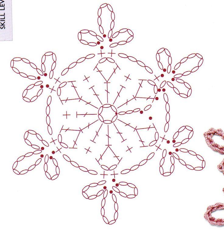 crochet snowfake chart