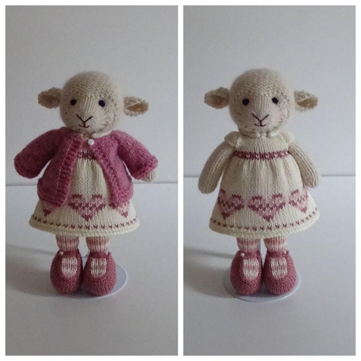 Knitting Pattern Pdf - Pinky Outfit For Lamb By Polushkabunny