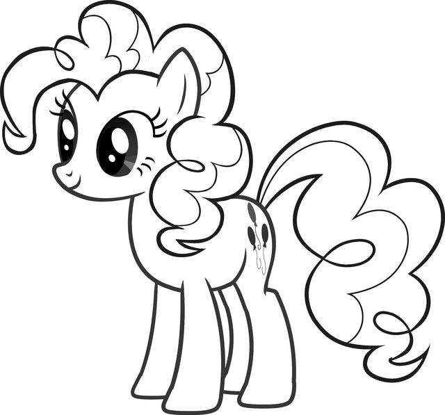 My Little Pony Coloring Pages: My Little Pony Pinkie Pie Coloring Page